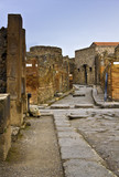Chariot road in Pompeii, Italy