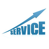 Service blue arrow