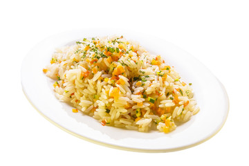 Closeup Of Rice With Vegetables