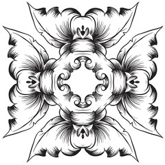 A black and white pattern