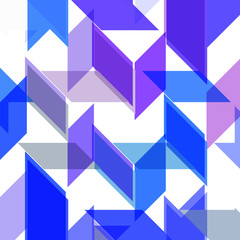 Abstract geometric shape, color background