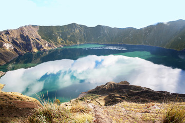 Quilotoa is a water-filled caldera