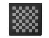 empty chessboard white and black isolated top view