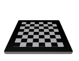 empty  3d chessboard white and black isolated front view