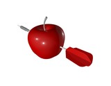 purpose abstract concept with red apple and arrow