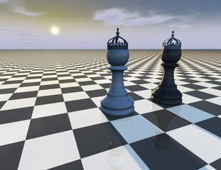 beautiful abstract background with chess pieces
