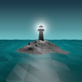 3d lighthouse illustration