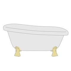 cartoon image of old bath