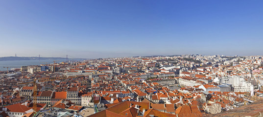 View of the historical Lisbon