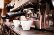Espresso machine making coffee in pub, bar, restaurant - 61938462