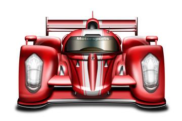 Rennwagen, Sportwagen rot, freigestellt