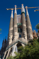 BARCELONA SPAIN - OCTOBER 28: La Sagrada Familia - the impressiv
