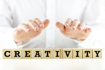 Conceptual image with the word Creativity
