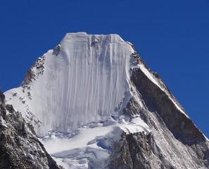 Sommet du Lingtren, 6714 m, depuis le Kala Patthar - Himalaya