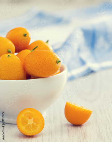 Kumquat on the table
