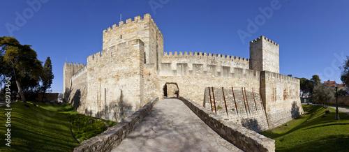 Leinwanddruck Bild Sao Jorge (St. George) Castle in Lisbon
