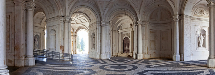 Entrance for visitors of Ajuda National Palace, Lisbon