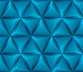 3d Abstract seamless background with blue triangles