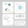 Set of flat concept elements for web and mobile services