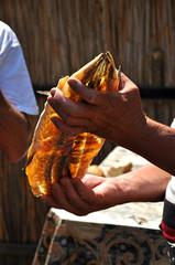 Dried and smoked fish