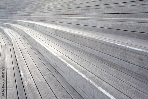 close - up Wood Plank Stair Steps