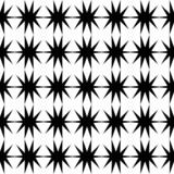 Black star pattern seamless