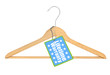 coat hanger with lifetime warranty tag