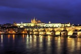 Prague, Charles Bridge at sunset