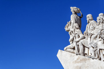 Detail of the statues of Padrao dos Descobrimentos