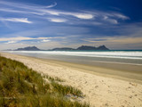 White Sand Beach With Blue Sky in New Zealand