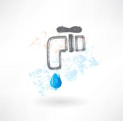 tap water grunge icon