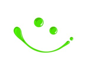 Green,toxic,chemical Venom or poison paint droplets smiley