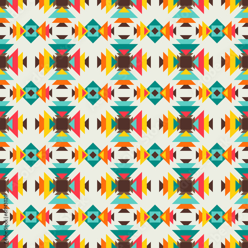 Ethnic seamless pattern in native style. - 61943020