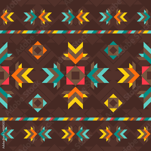Ethnic seamless pattern in native style. - 61943037