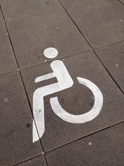 Symbol Behindertenparkplazu