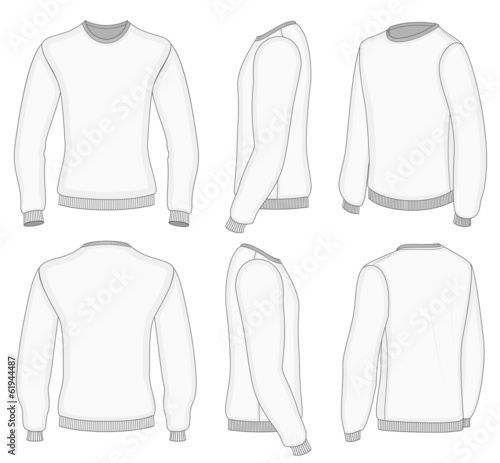 Men's white long sleeve t-shirt.