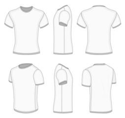 Men's white short sleeve t-shirt.