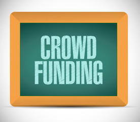 crowd funding message illustration design