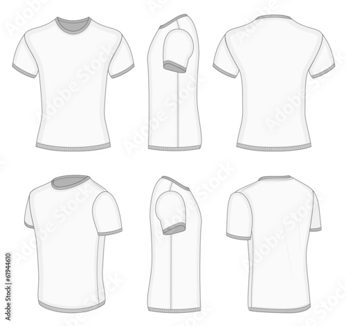 Men's white short sleeve t-shirt.
