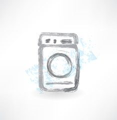 washing machine grunge icon.