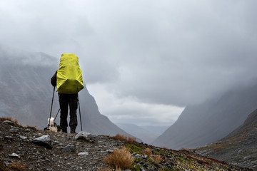 Hiking on a cloudy day in Sweden