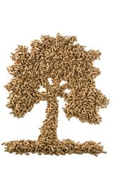 Baum aus Pellets für Heizung und Wärme