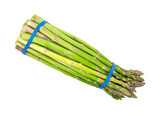 Asparagus Bundle On White Background Top