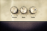 Sound volume controls in vintage style