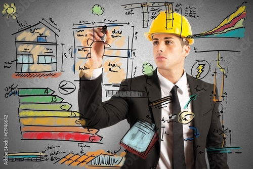 Fototapeta Construction engineer