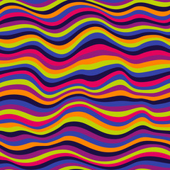 Seamless colorful waved pattern