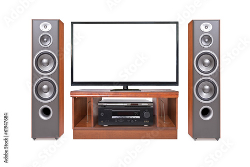 Front shot of home cinema system
