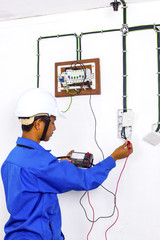 wireman during testing work