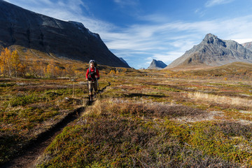 Hiking in Sweden - Lapland - Nallo Valley