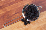 Strainer with Blackberries